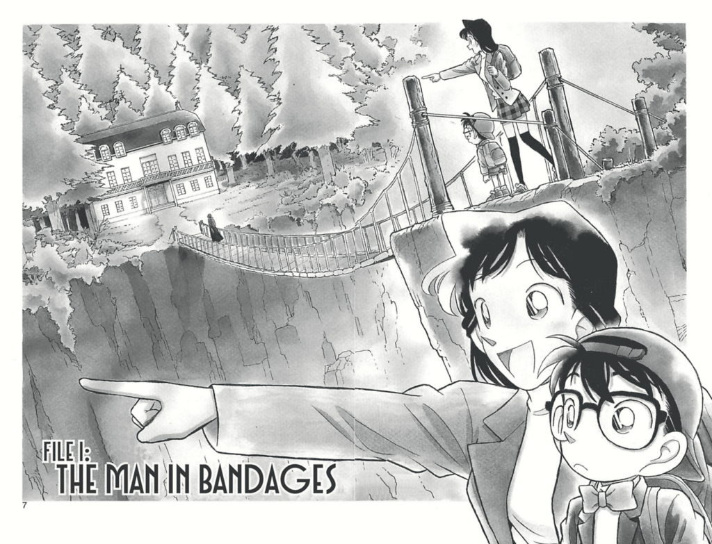 Image of the title pages from The Man in Bandages